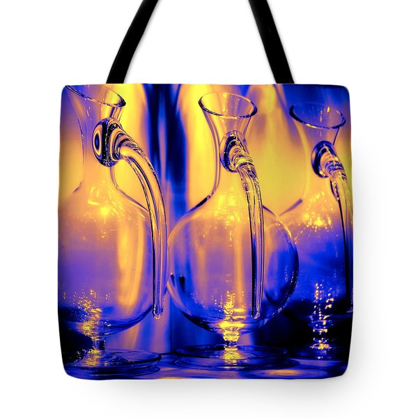 Light And Colors Play I Tote Bag by Jenny Rainbow