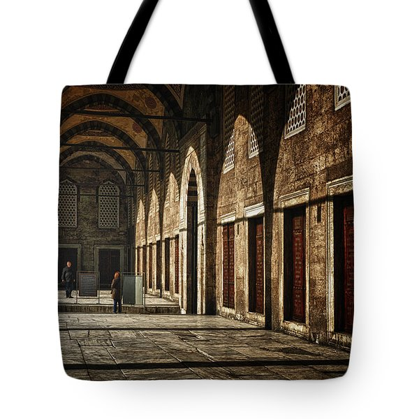 Light And Shadow Tote Bag by Joan Carroll