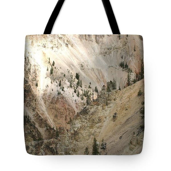 Light And Shadows In The Grand Canyon In Yellowstone Tote Bag by Living Color Photography Lorraine Lynch