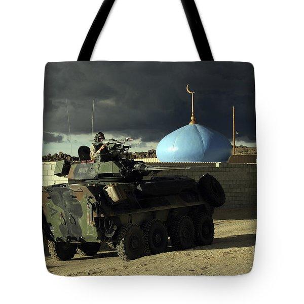Light Armored Vehicle Commander Mans Tote Bag by Stocktrek Images
