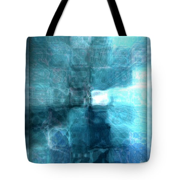 Tote Bag featuring the digital art Light At The End Of The Tunnel by Donna Bentley