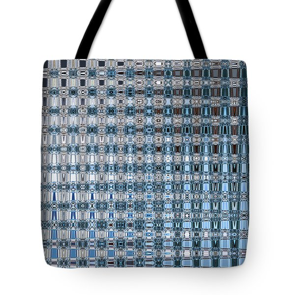 Light Blue And Gray Abstract Tote Bag by Carol Groenen