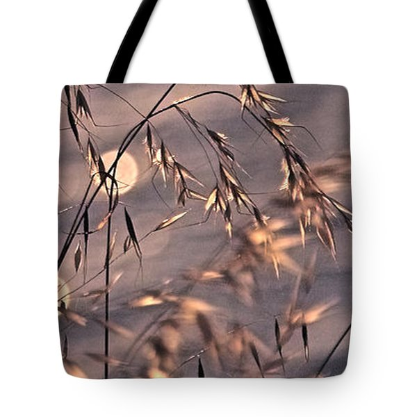 Light Bubbles And Grass 2 Tote Bag by Jocelyn Kahawai