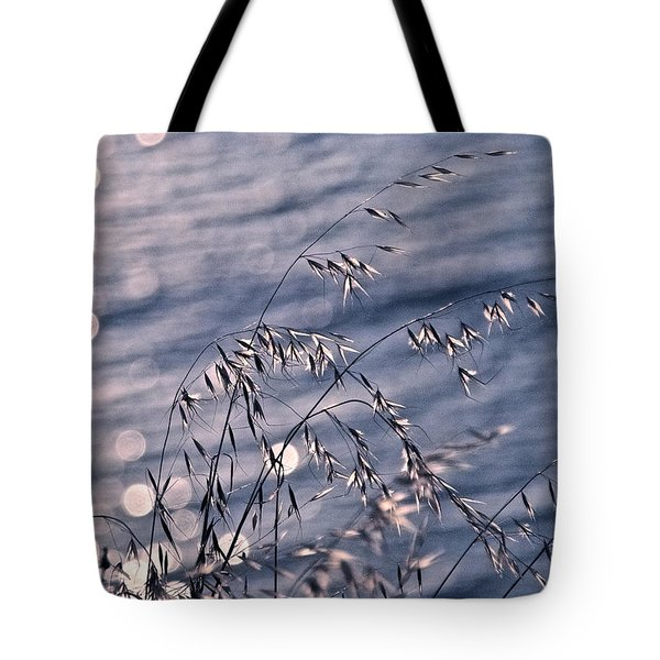 Light Bubbles And Grass Tote Bag by Jocelyn Kahawai