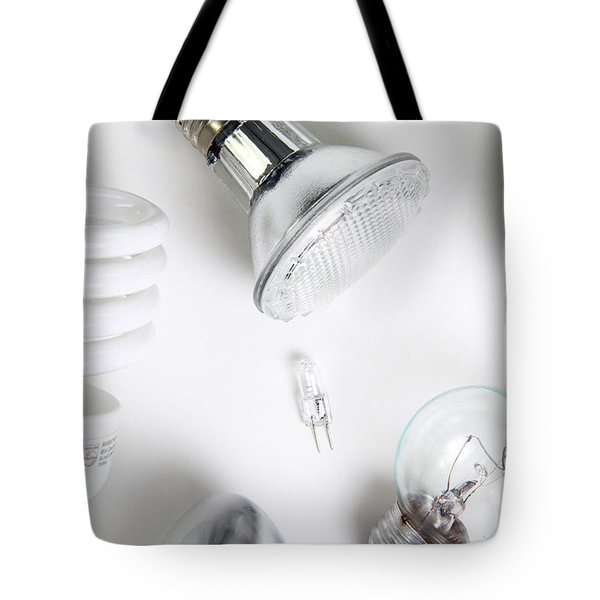 Light Bulbs Tote Bag by Photo Researchers, Inc.