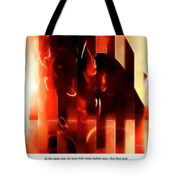 Light Shine. Christian Art Poster Tote Bag by Mark Lawrence