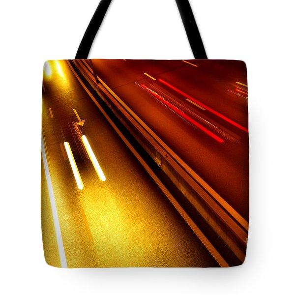 Light Trails Tote Bag by Carlos Caetano