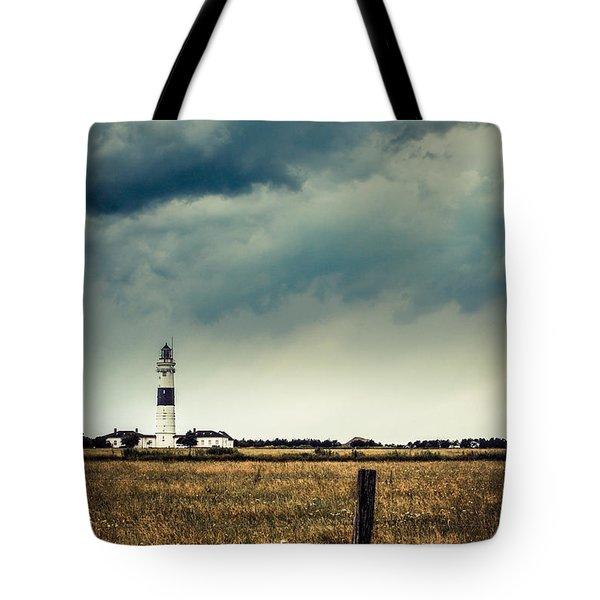 Lighthouse Of Kampen -vintage Tote Bag by Hannes Cmarits