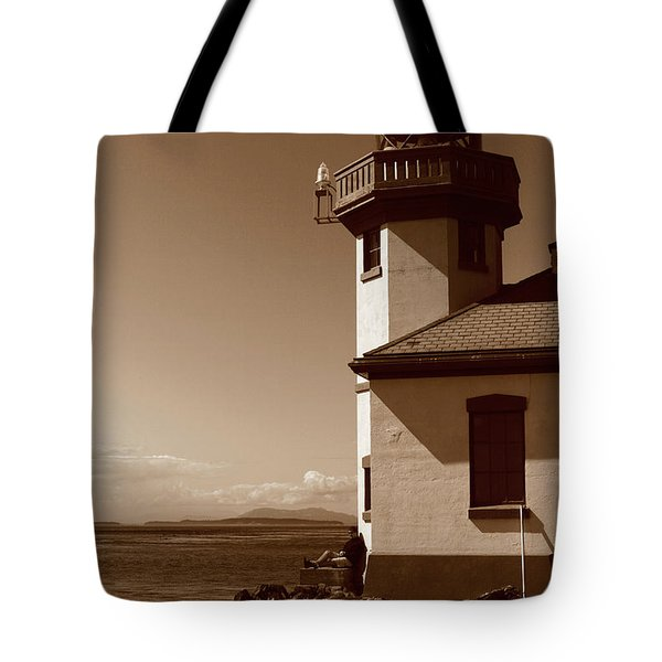 Tote Bag featuring the photograph Lighthouse San Juan by Lorraine Devon Wilke