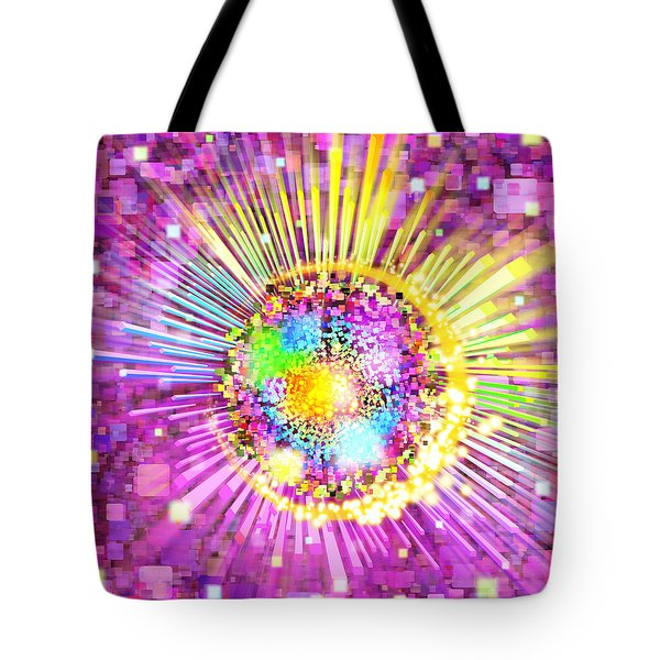 Lighting Effects And Graphic Design Tote Bag by Setsiri Silapasuwanchai