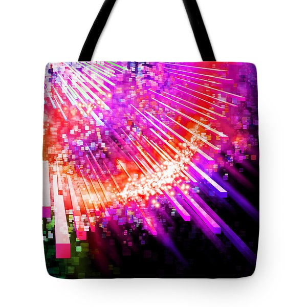 Lighting Explode Tote Bag by Setsiri Silapasuwanchai