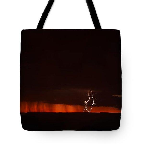 Lightning At The Grand Canyon Tote Bag