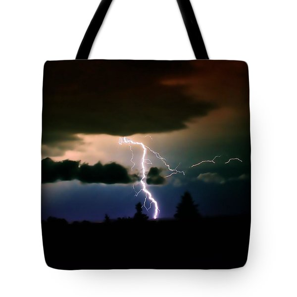 Lightning Over The Plains I Tote Bag by Ellen Heaverlo