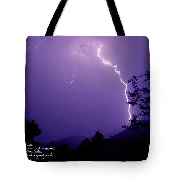 Lightning Over The Rogue Valley Tote Bag