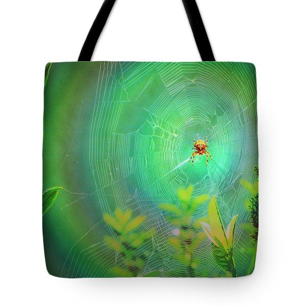 Lightning Spider Tote Bag by Helmut Rottler