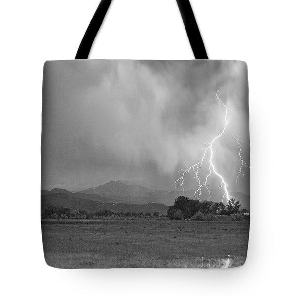 Lightning Striking Longs Peak Foothills 7cbw Tote Bag by James BO  Insogna