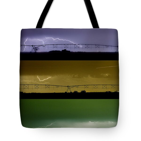 Lightning Warhol  Abstract Tote Bag by James BO  Insogna
