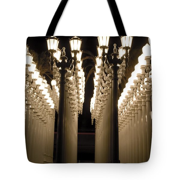 Lights In Art Exhibit In La Tote Bag