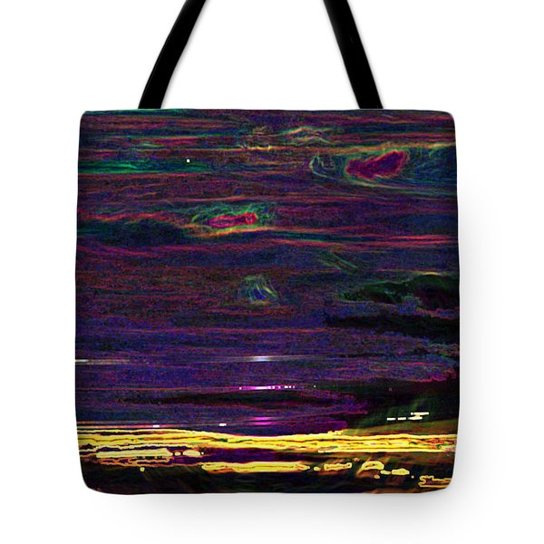 Lights In The Valley Tote Bag by Afroditi Katsikis