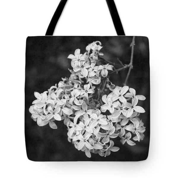 Lilac Branch In Bw Tote Bag
