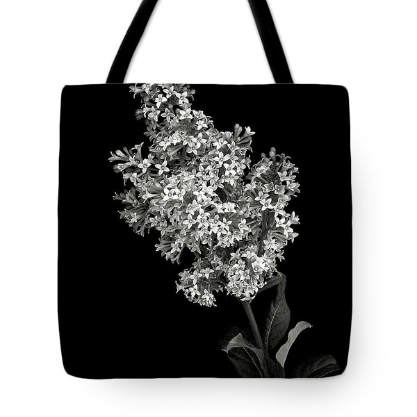 Lilac In Black And White Tote Bag