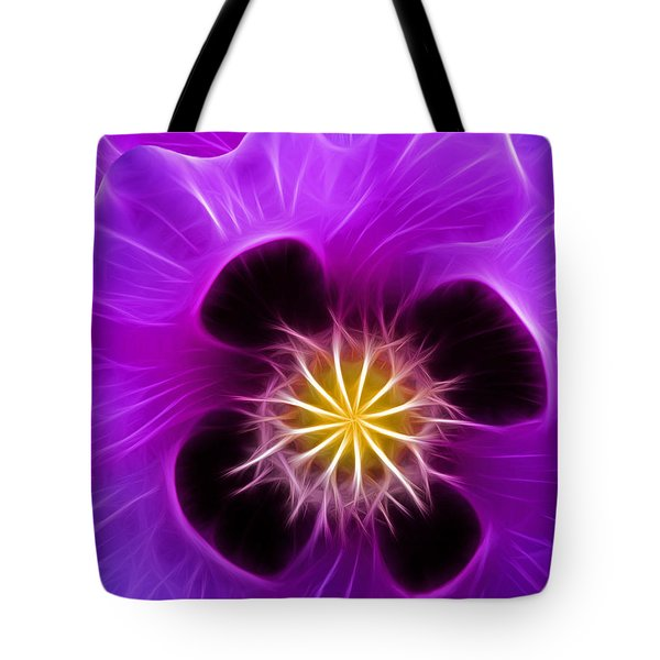Lilac Poppy Tote Bag