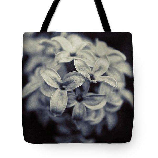 Lilacs In 3d In Bw Tote Bag
