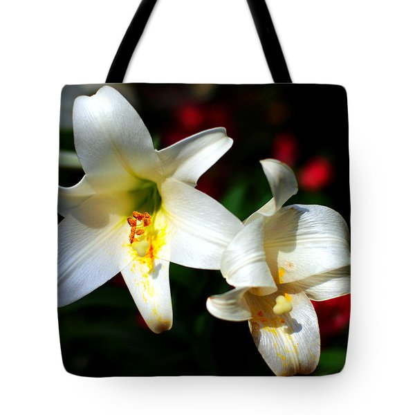 Lilium Longiflorum Flower Tote Bag by Paul Ge