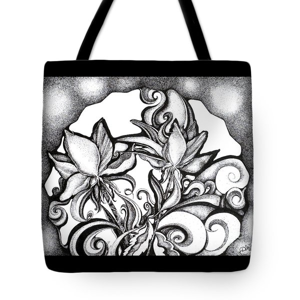 Lily Garden Tote Bag