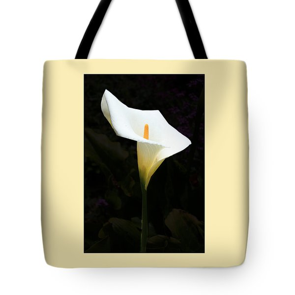 Lily On Black Tote Bag by Nareeta Martin