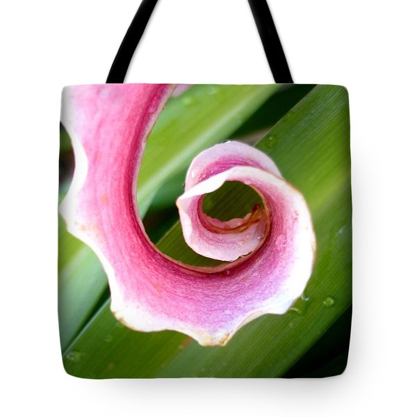 Lily Spiral Tote Bag