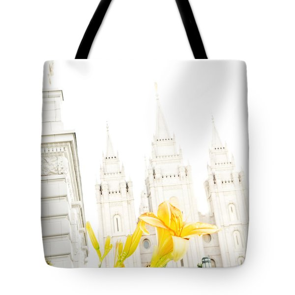 Lily Temple Funky Tote Bag by La Rae  Roberts