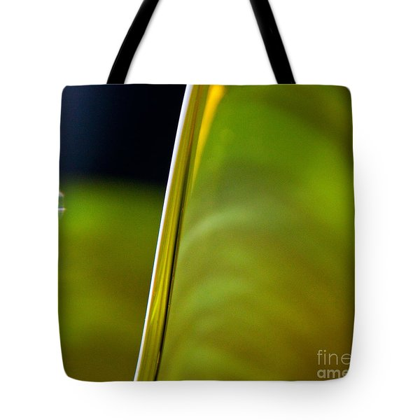 Lime Abstract Tote Bag by Dana Kern
