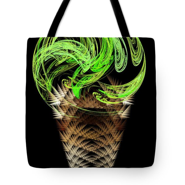 Lime Ice Cream Cone Tote Bag by Andee Design