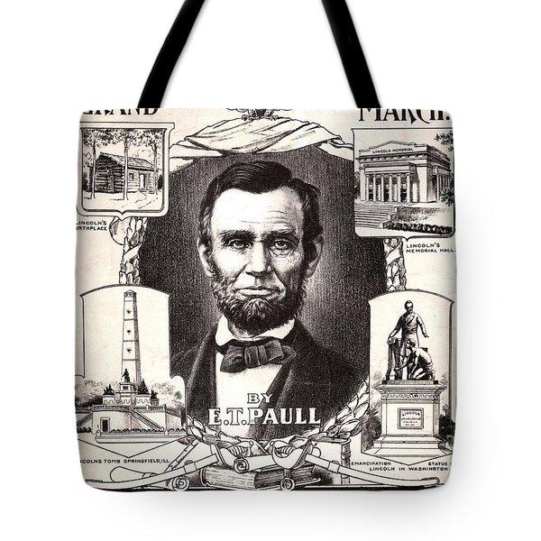Lincoln Centennial, C1909 Tote Bag by Granger