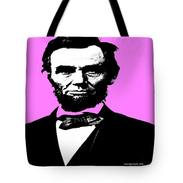 Tote Bag featuring the digital art Lincoln by George Pedro
