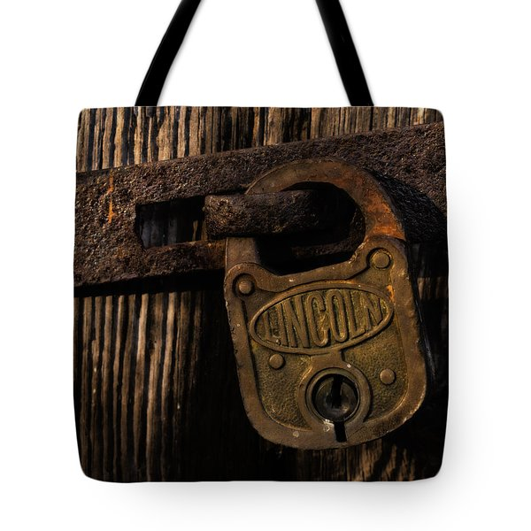 Lincoln Lock Tote Bag