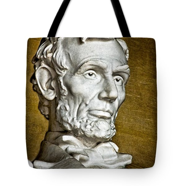 Lincoln Profle 2 Tote Bag by Christopher Holmes
