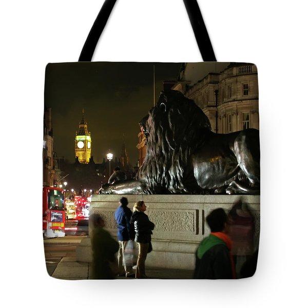 Tote Bag featuring the photograph Lion An Ben by Pedro Cardona