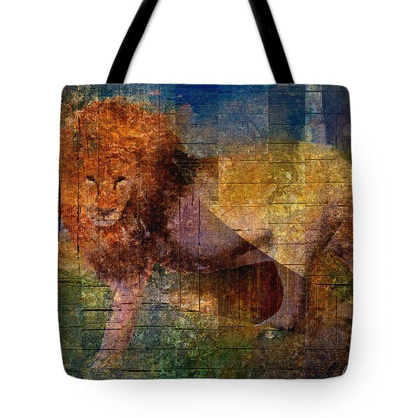 Lion Tote Bag by Arline Wagner