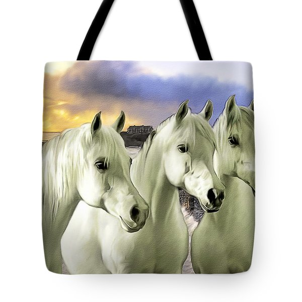 Lipizzans Tote Bag by Tom Schmidt