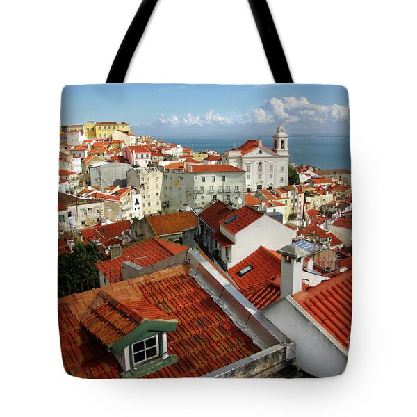 Lisbon Rooftops Tote Bag by Carlos Caetano
