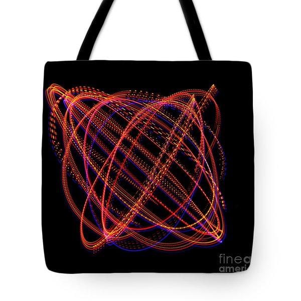 Lissajous Figure Tote Bag by Ted Kinsman