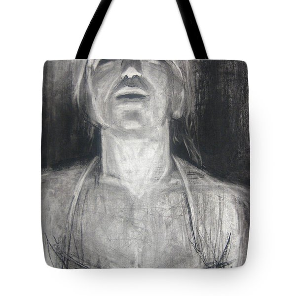 Tote Bag featuring the drawing Lit by Gabrielle Wilson-Sealy