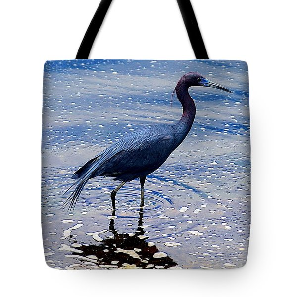Tote Bag featuring the photograph Lit'l Blue by Elizabeth Winter