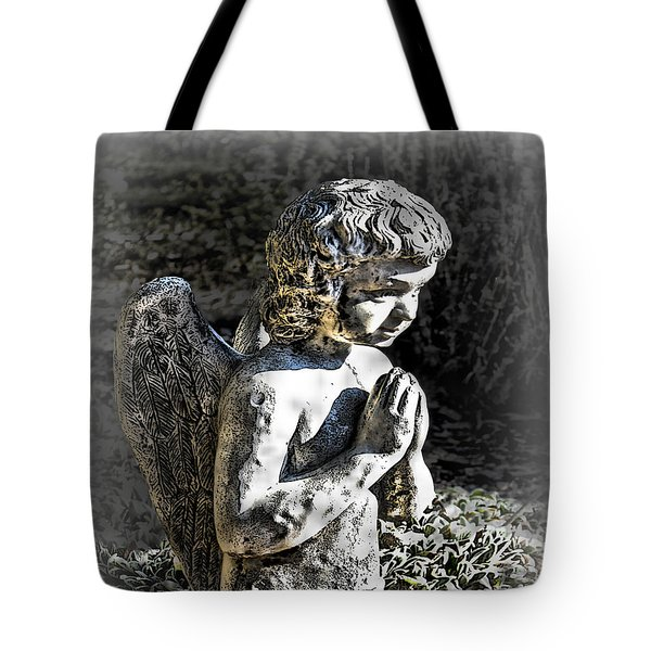 Little Angel Statue Tote Bag by Danuta Bennett