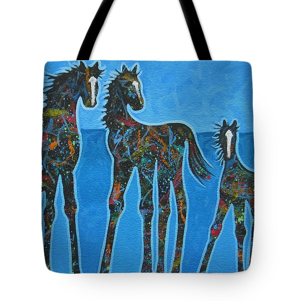 Little Blue Tote Bag by Lance Headlee