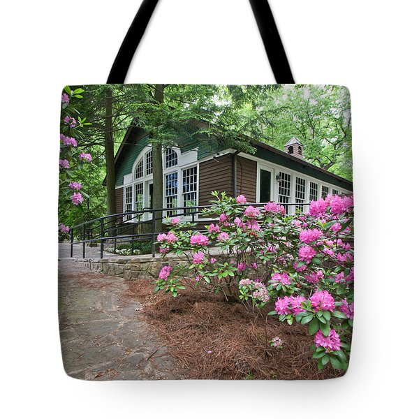 Little Brown Church In Spring Tote Bag