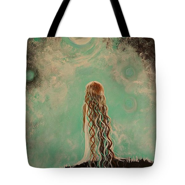 Little Galaxie One Tote Bag by Leslie Allen