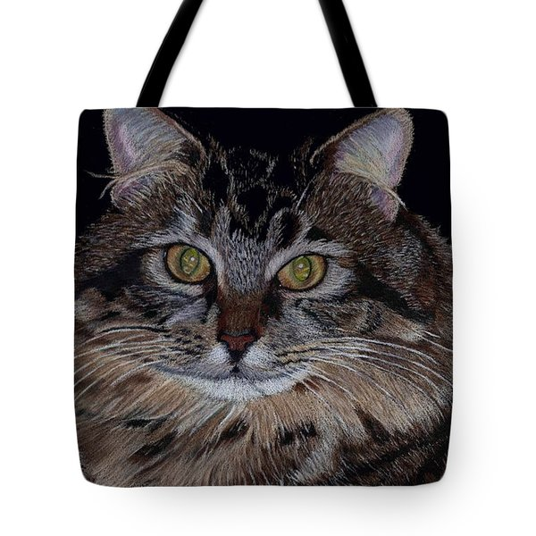 Little Girl - Maine Coon Cat Painting Tote Bag